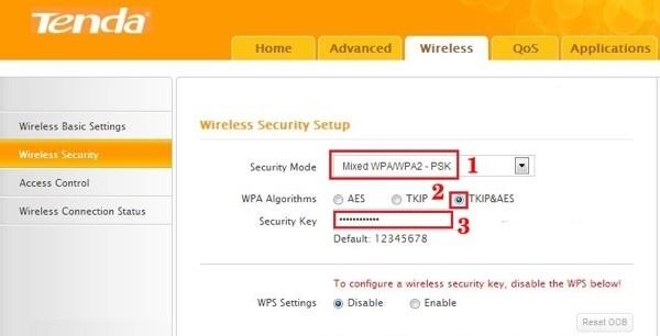 Đổi mật khẩu WiFi Tenda