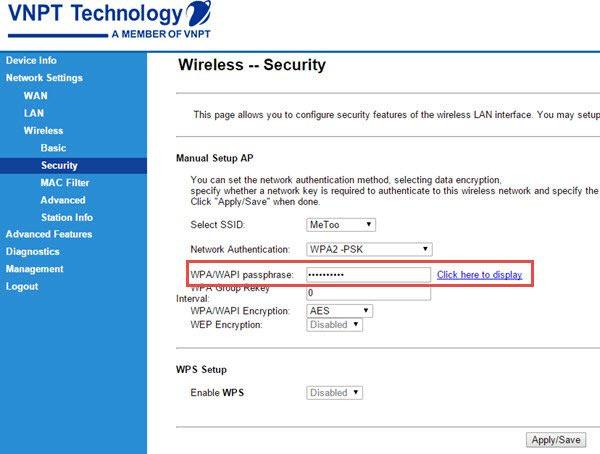 Cách đổi mật khẩu wifi iGATE