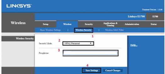 Cách đổi mật khẩu wifi LINKSYS