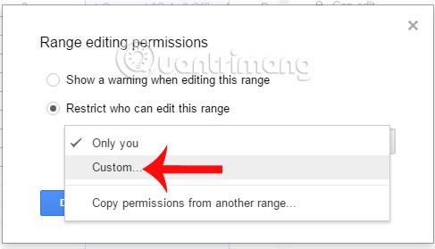 Cách thiết lập quyền chỉnh sửa bảng tính trên Google Sheets