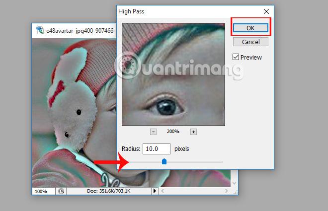 Điều chỉnh độ sắc nét cho từng chi tiết ảnh