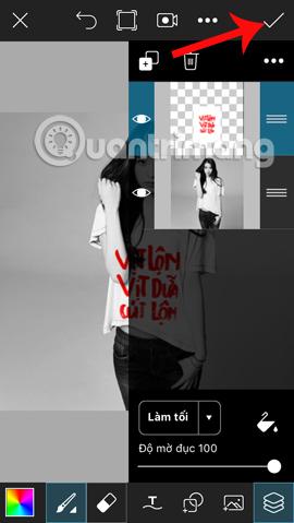 Lưu thao tác chỉnh sửa trên PicsArt