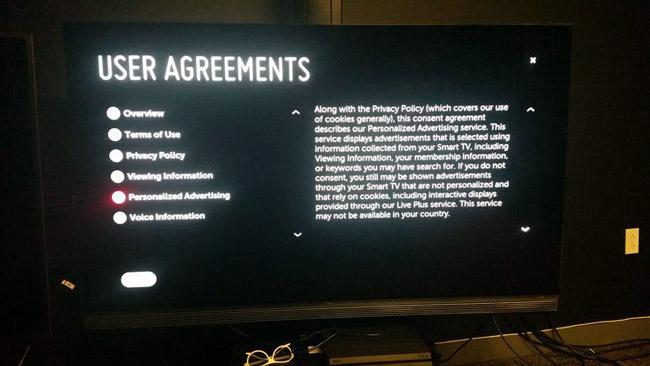 Cách tắt tính năng theo dõi người dùng trên Smart TV của Vizio, LG...