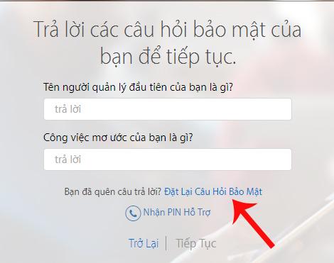 Hướng dẫn đặt lại câu hỏi bảo mật Apple ID