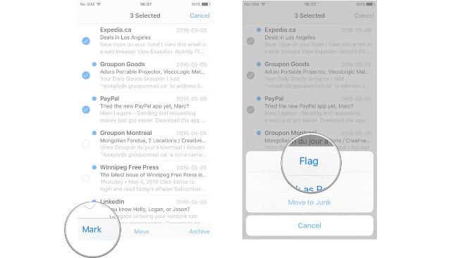 Hướng dẫn cách quản lý email và hộp thư trong ứng dụng Mail trên iPhone/iPad