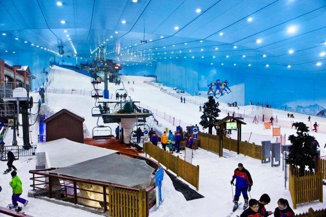 Đây là sân trượt tuyết trong nhà lớn nhất thế giới.