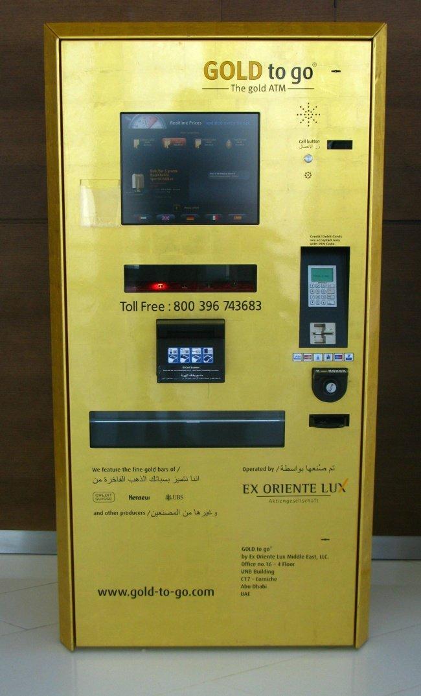 Thay vì bán sôcôla, các máy bán hàng tự động trên đường phố ở Dubai bán vàng và thậm chí cả những thanh lớn.