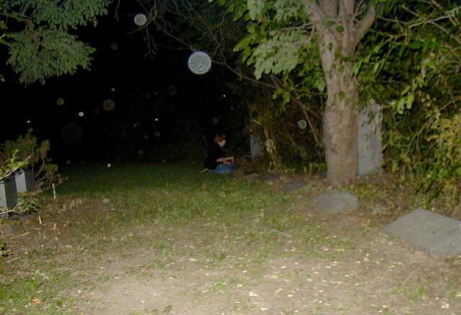 Những quả cầu sáng trong bức ảnh