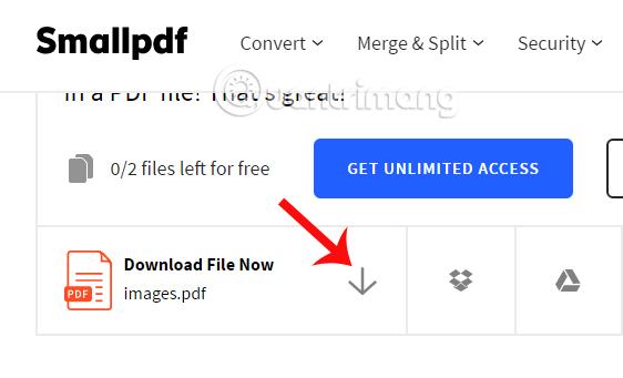 Tải file PDF hoàn chỉnh sau khi chuyển đổi
