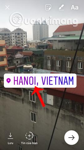 Chèn Sticker địa điểm vào ảnh trên Instagram