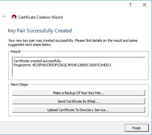Tạo thành công mã hóa Mail