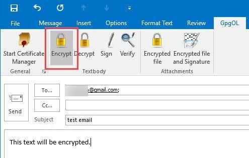 Mã hóa Email Outlook
