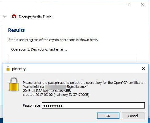 Xác nhận mã hóa email Outlook