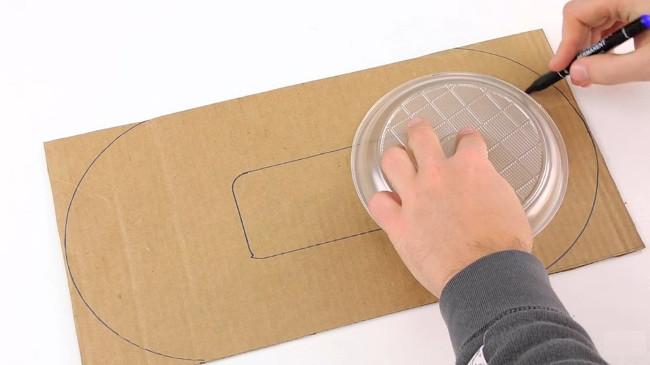 Dùng đĩa để vẽ hình cho vô-lăng