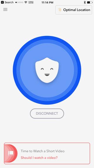 Giao diện kết nối thành công trên iOS