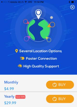 Mua dịch vụ cao cấp của Betternet