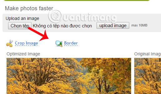 Bo viền hoặc cắt hình ảnh trên WebResizer