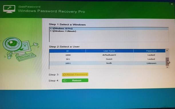 Thiết lập lại mật khẩu Windows