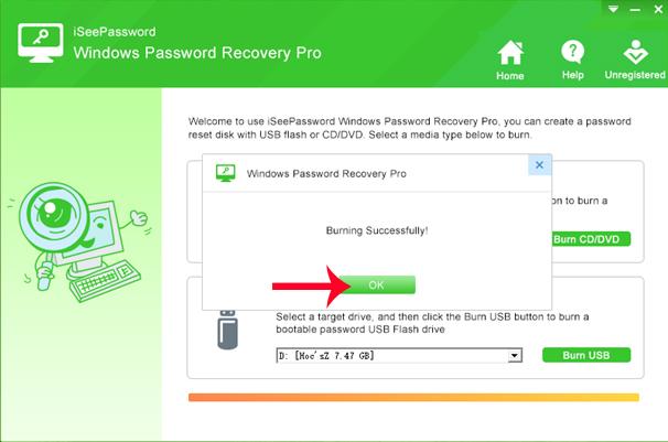 Cắm USB vào máy tính cần reset password
