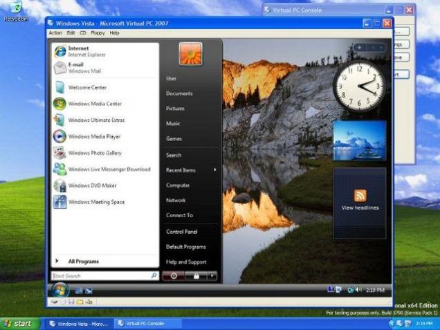 Cài đặt Windows Virtual PC