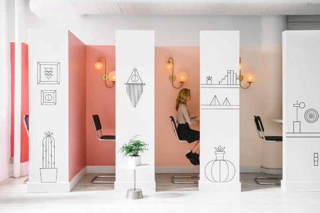 Mục đích chính là tạo ra không gian làm việc và các phòng hội nghị theo phong cách khác nhau.