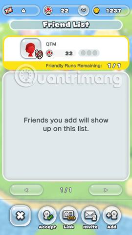 Mời bạn bè của bạn tham gia Super Mario Run