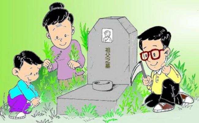Rọn dẹp phần mộ được sạch sẽ cỏ dại
