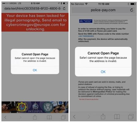 Trình duyệt Safari không thể truy cập trang web khi bị tấn công