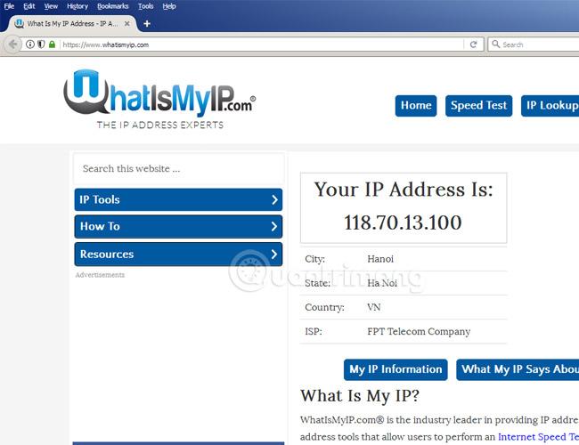 Cách kiểm tra địa chỉ IP
