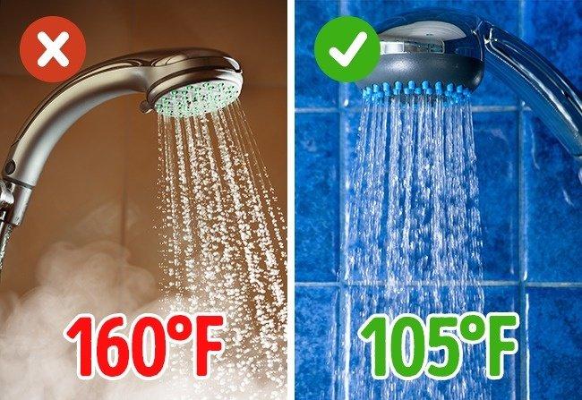 Chú ý đến nhiệt độ nước
