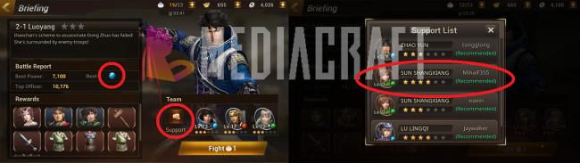 Nhận sự hỗ trợ từ người chơi khác