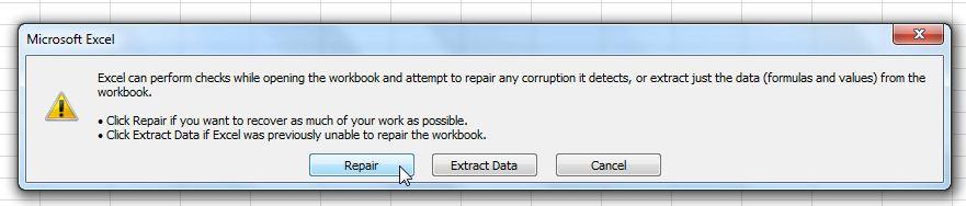 Nhấn chọn nút Repair