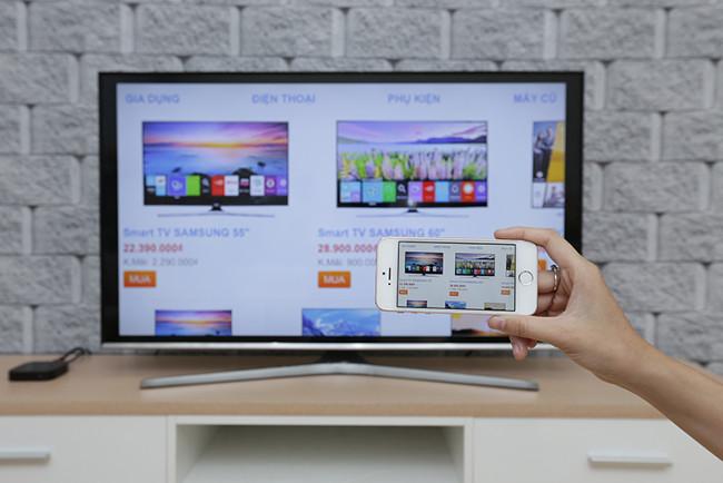 Tivi sẽ phản chiếu lại tất cả những gì đang hiển thị trên màn hình iPhone