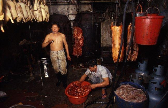 Hệ thống luật pháp ở thành phố Kowloon Walled còn lỏng lẻo nên có rất nhiều lò giết mổ gia súc.