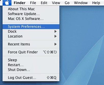 Nhấn chọn System Preferences