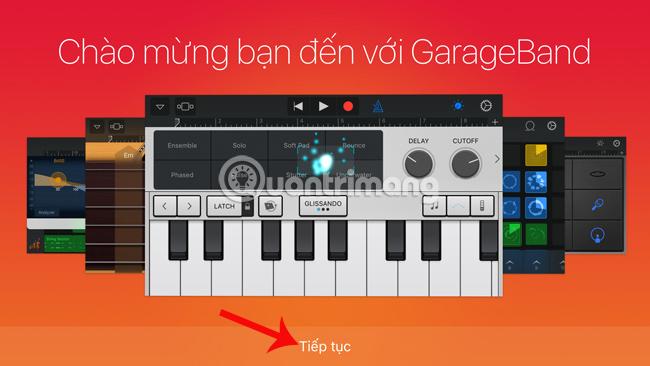 Giao diện GarageBand