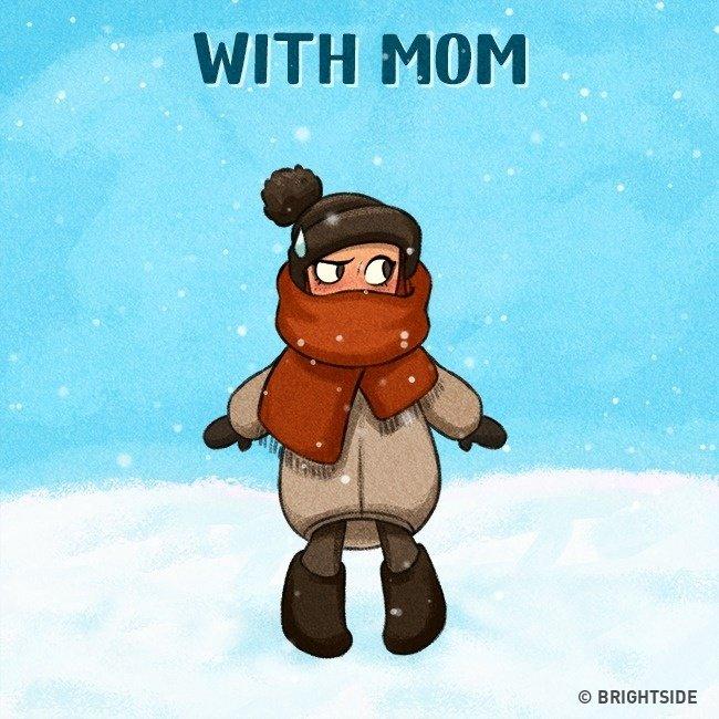 """Ở với mẹ, bạn sẽ không bao giờ cảm thấy bị """"lạnh cóng"""" mỗi khi ra ngoài"""
