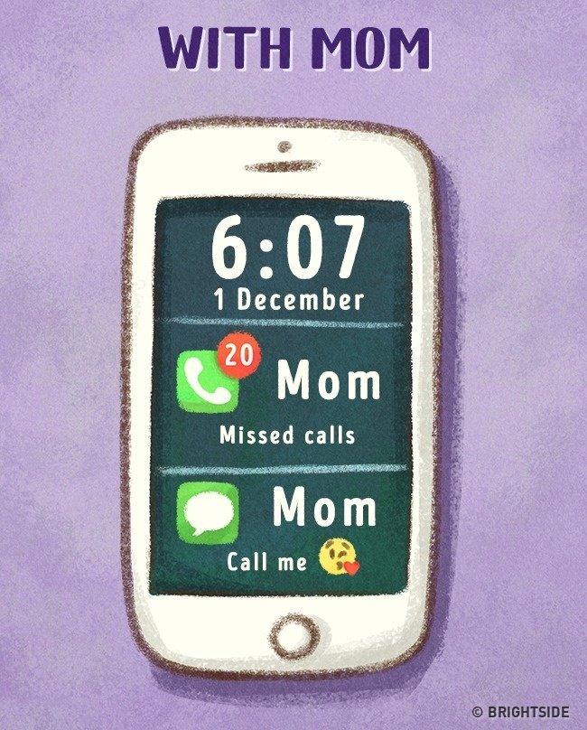 Ở với mẹ, nhiều khi nghĩ mẹ thật phiền, gọi điện, nhắn tin hỏi han liên tục vì lo lắng!