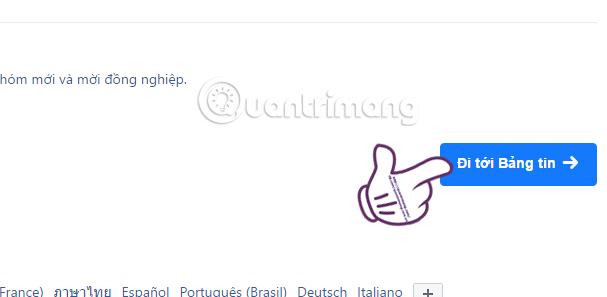 Đi tới bảng tin trên Facebook Workplace