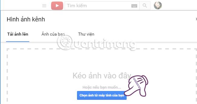 Báo lỗi tải ảnh bìa Youtube