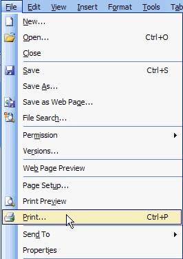 Với Microsoft Office Word 2003