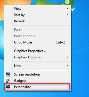 Chọn Desktop Background