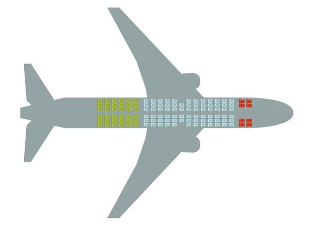 Các vị trí an toàn khi đi máy bay