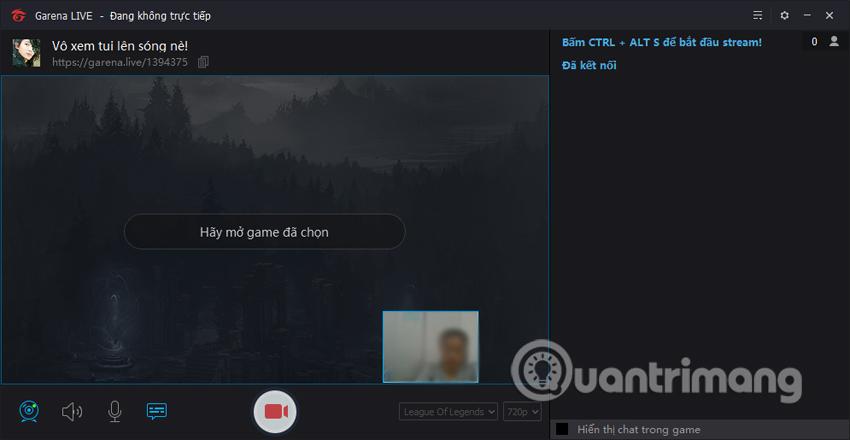 Quyền truy cập phát trực tiếp trên Garena Live