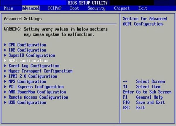 Truy cập bào BIOS trên máy tính
