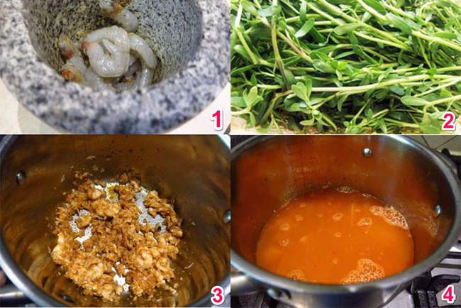 Cách nấu canh rau đắng
