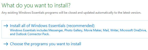 Cài đặt phần mềm Windows Movie Maker