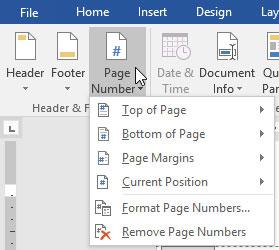 Đánh số trang văn bản
