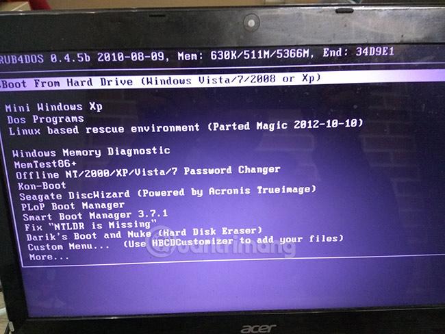 Tạo USB Hiren's boot