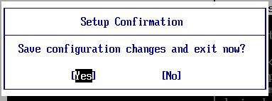 Lưu thay đổi trên BIOS